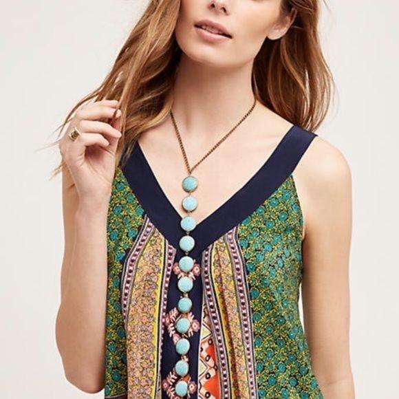 Excellent Anthropologie Gemline Turquoise Lariat Necklace Machost Co Dining Chair Design Ideas Machostcouk